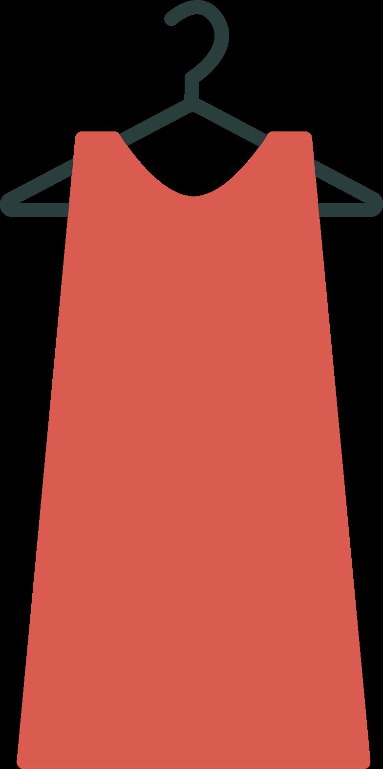 hanger with dress Clipart illustration in PNG, SVG