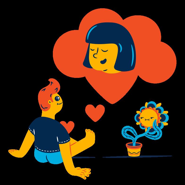 Imágenes vectoriales Pensando en el amor en PNG y SVG estilo  | Ilustraciones Icons8
