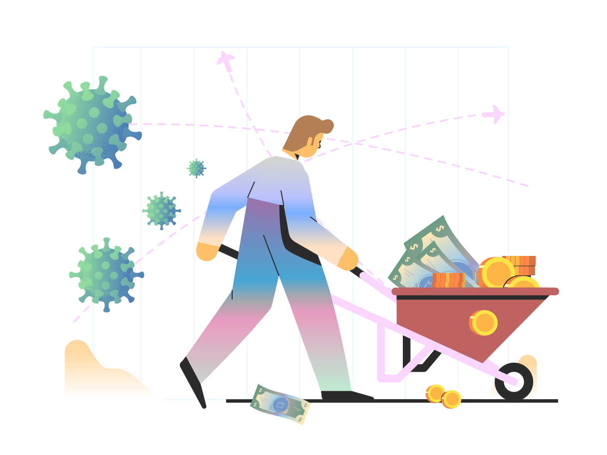 Ilustración de clipart de Ahorrando dinero en PNG, SVG