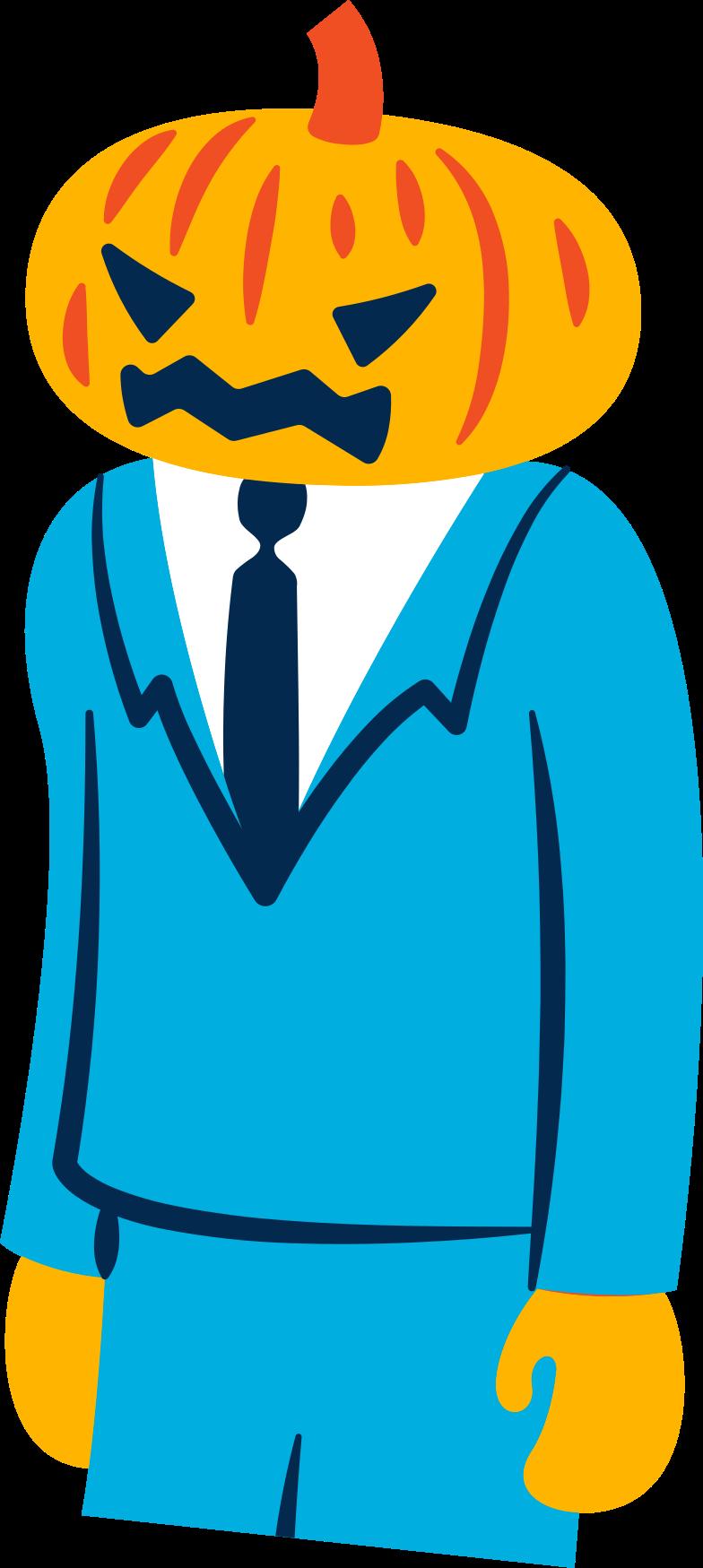 pumpkin man Clipart illustration in PNG, SVG