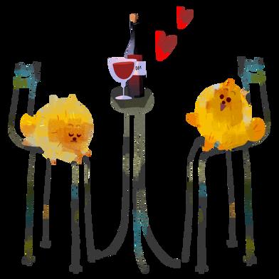 Иллюстрация Романтический вечер в стиле  в PNG и SVG | Icons8 Иллюстрации
