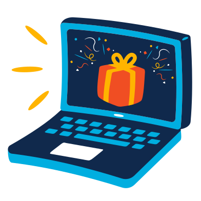 style Online gift images in PNG and SVG | Icons8 Illustrations