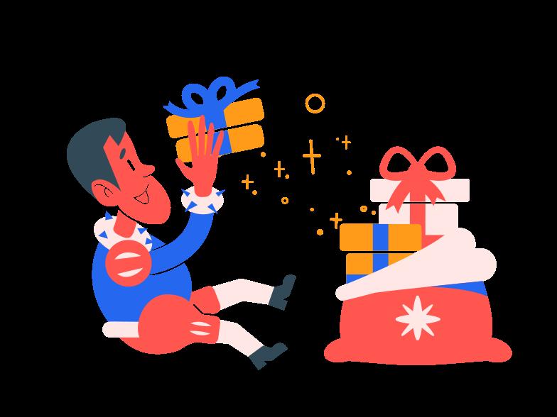 PNGとSVGの  スタイルの プレゼントをもらう ベクターイメージ | Icons8 イラスト