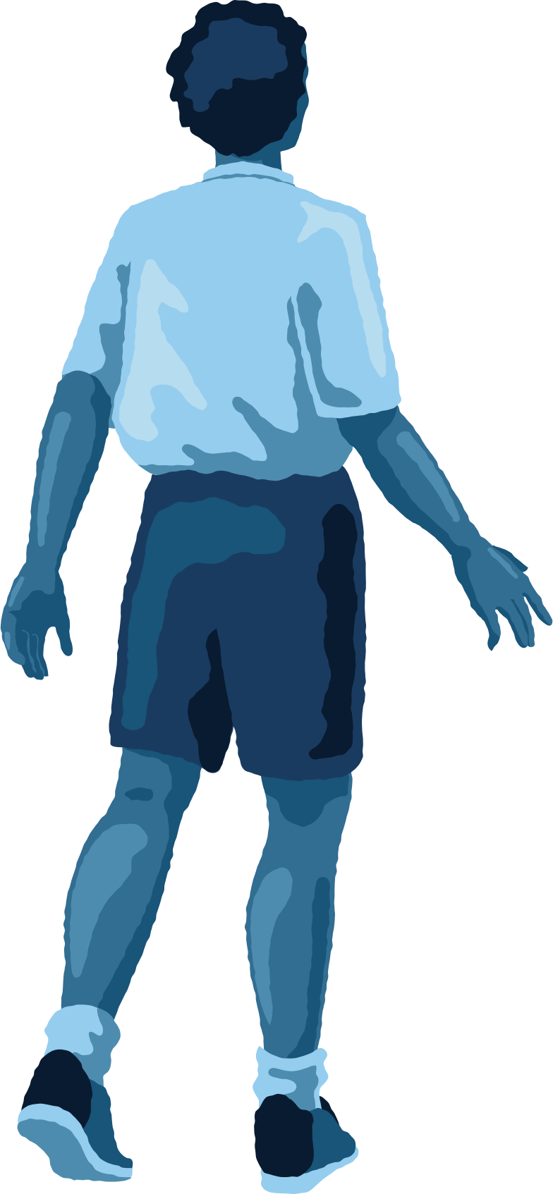 man standing back Clipart illustration in PNG, SVG