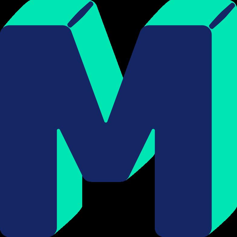 letter m Clipart illustration in PNG, SVG