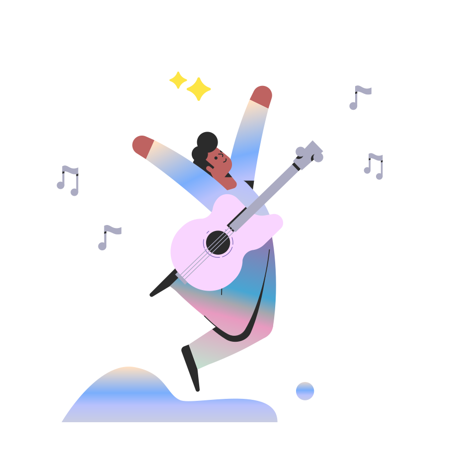 Rock music star Clipart illustration in PNG, SVG
