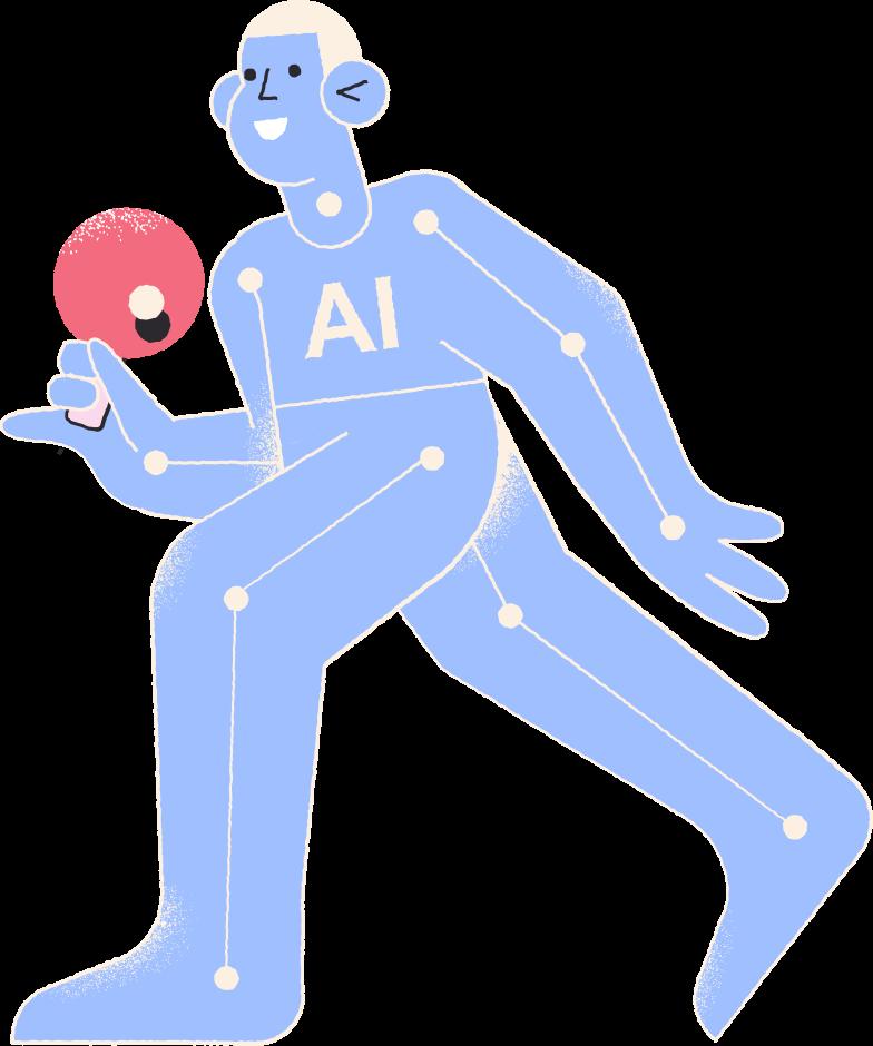 Ilustración de clipart de jugador de tenis de mesa ai en PNG, SVG