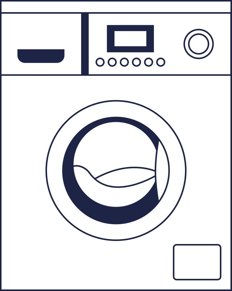 washer 2 line Clipart illustration in PNG, SVG