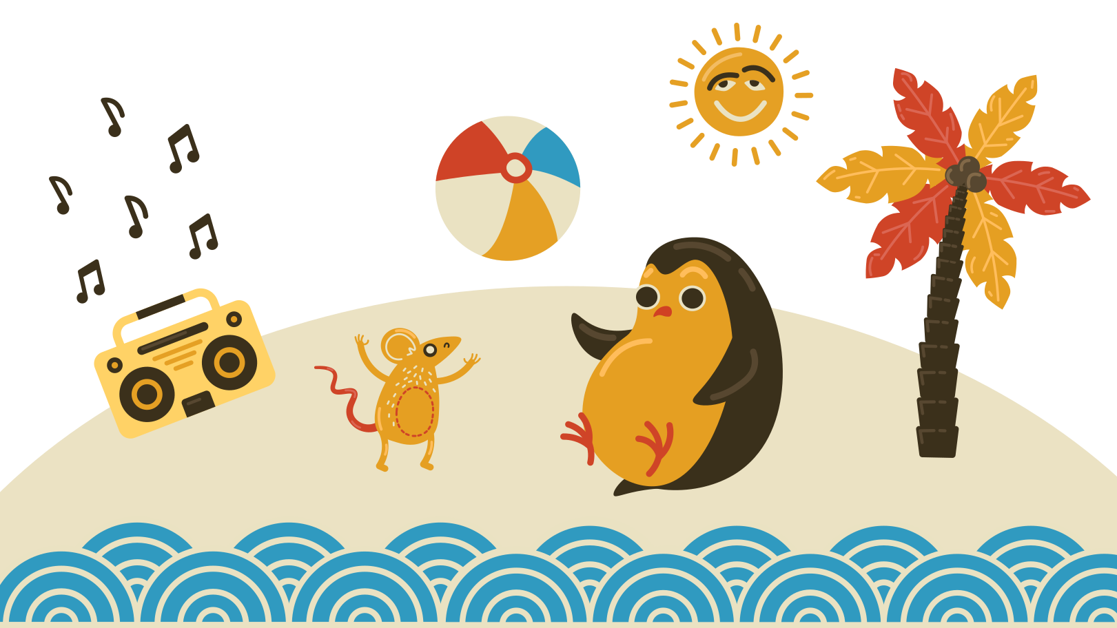 Beach party Clipart illustration in PNG, SVG