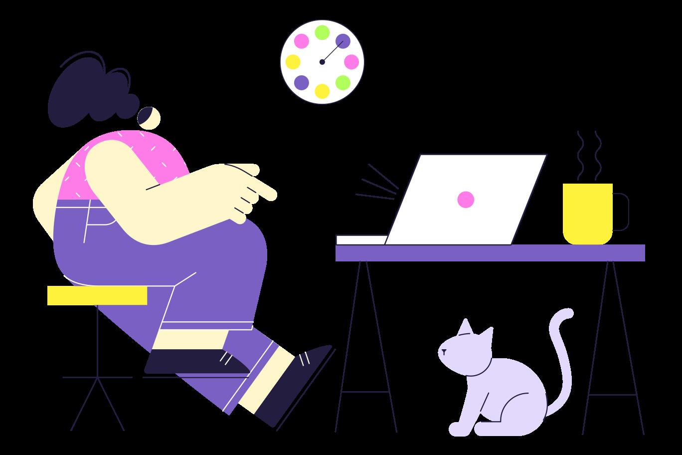 Remote work Clipart illustration in PNG, SVG