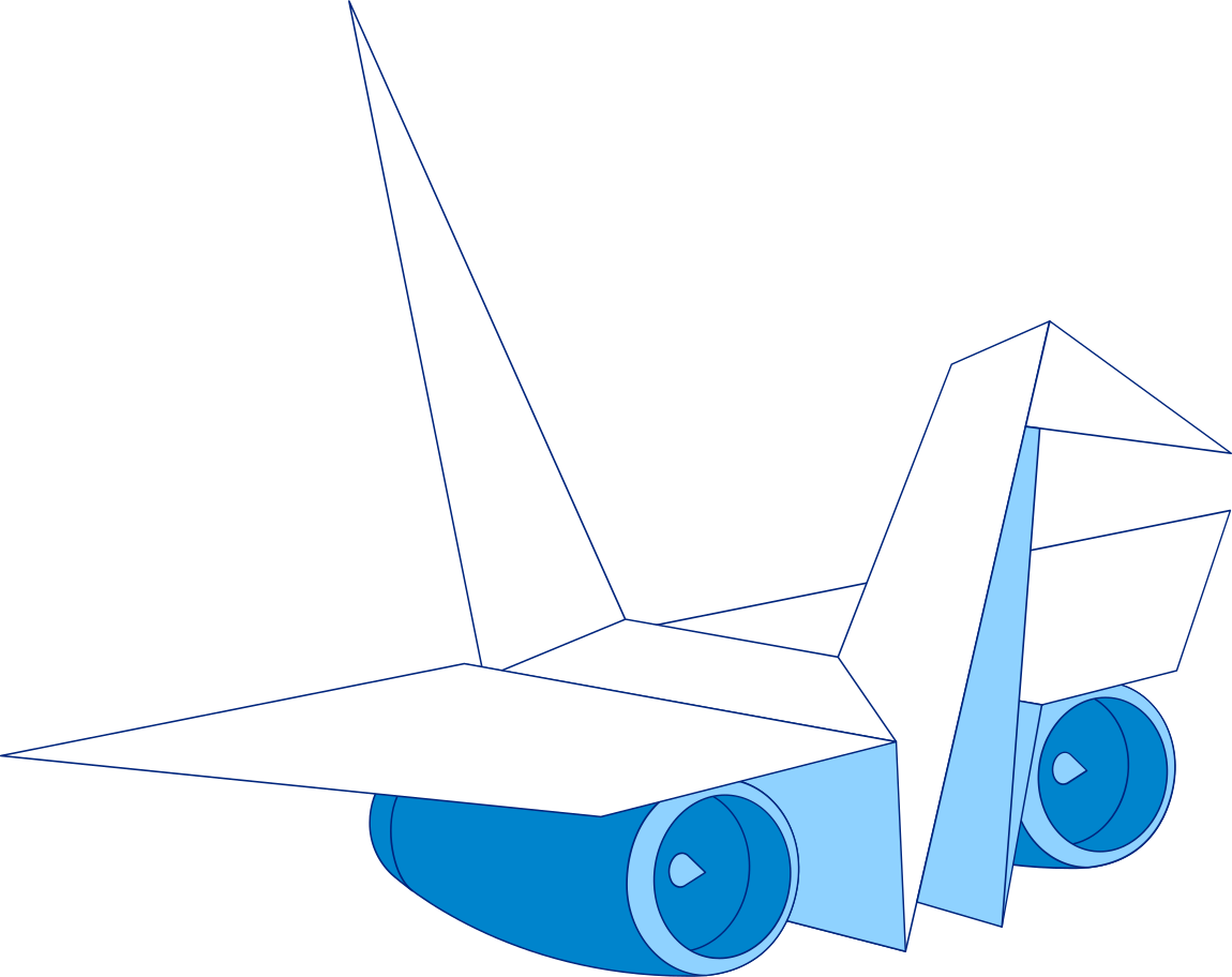origami plane Clipart illustration in PNG, SVG