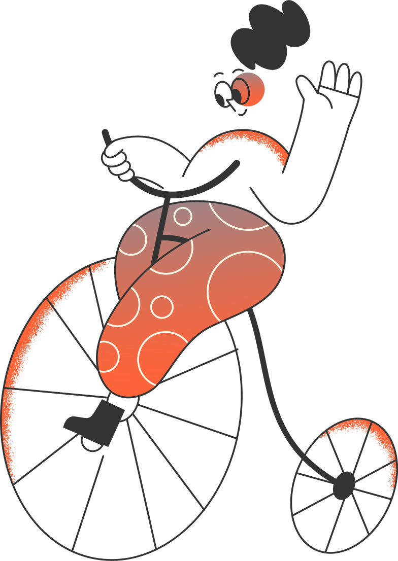 girl on the bicycle Clipart illustration in PNG, SVG