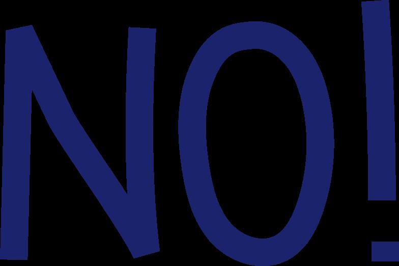 no blue Clipart illustration in PNG, SVG