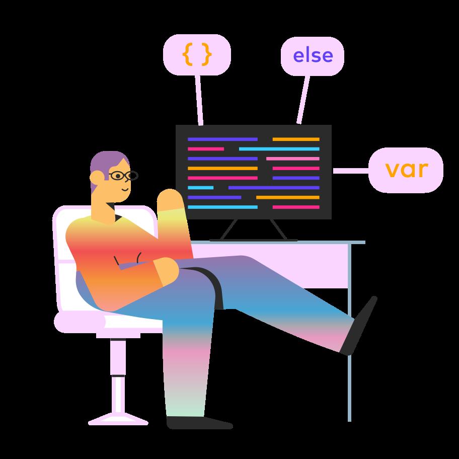 Web programer Clipart illustration in PNG, SVG