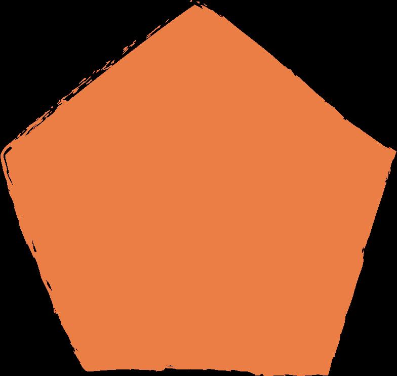 Fünfeckig-orange Clipart-Grafik als PNG, SVG