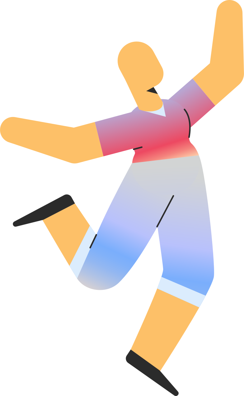 adult in shorts jumping Clipart illustration in PNG, SVG