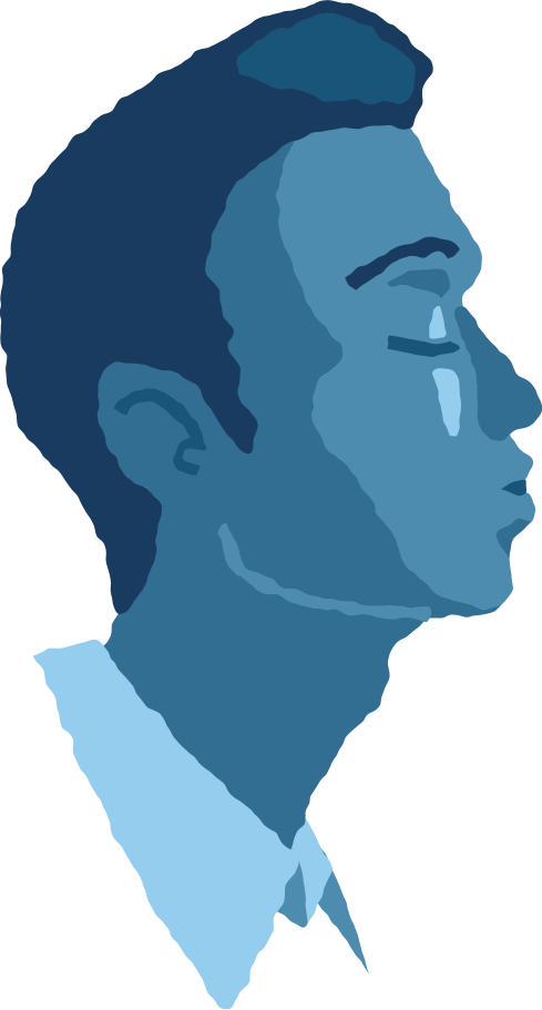 man head air kiss Clipart illustration in PNG, SVG