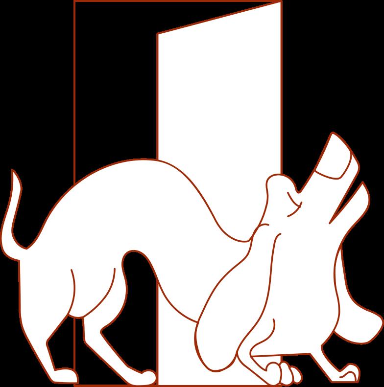 i delivery wiener dog Clipart illustration in PNG, SVG