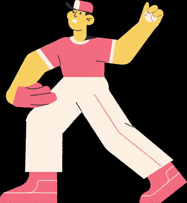baseballer Clipart illustration in PNG, SVG