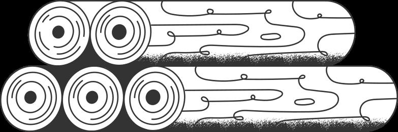 Ilustración de clipart de logs en PNG, SVG