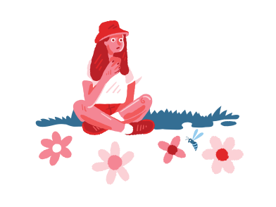 style Girl in the meadow images in PNG and SVG | Icons8 Illustrations