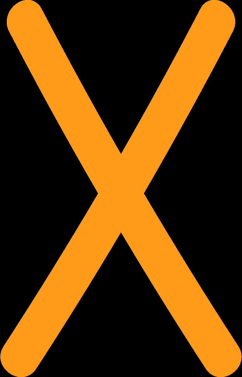 Иллюстрация х желтый в стиле  в PNG и SVG | Icons8 Иллюстрации