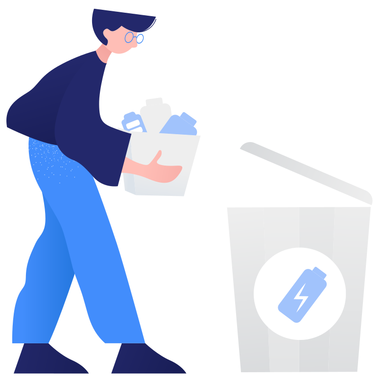 style Waste sorting- battery Vector images in PNG and SVG | Icons8 Illustrations