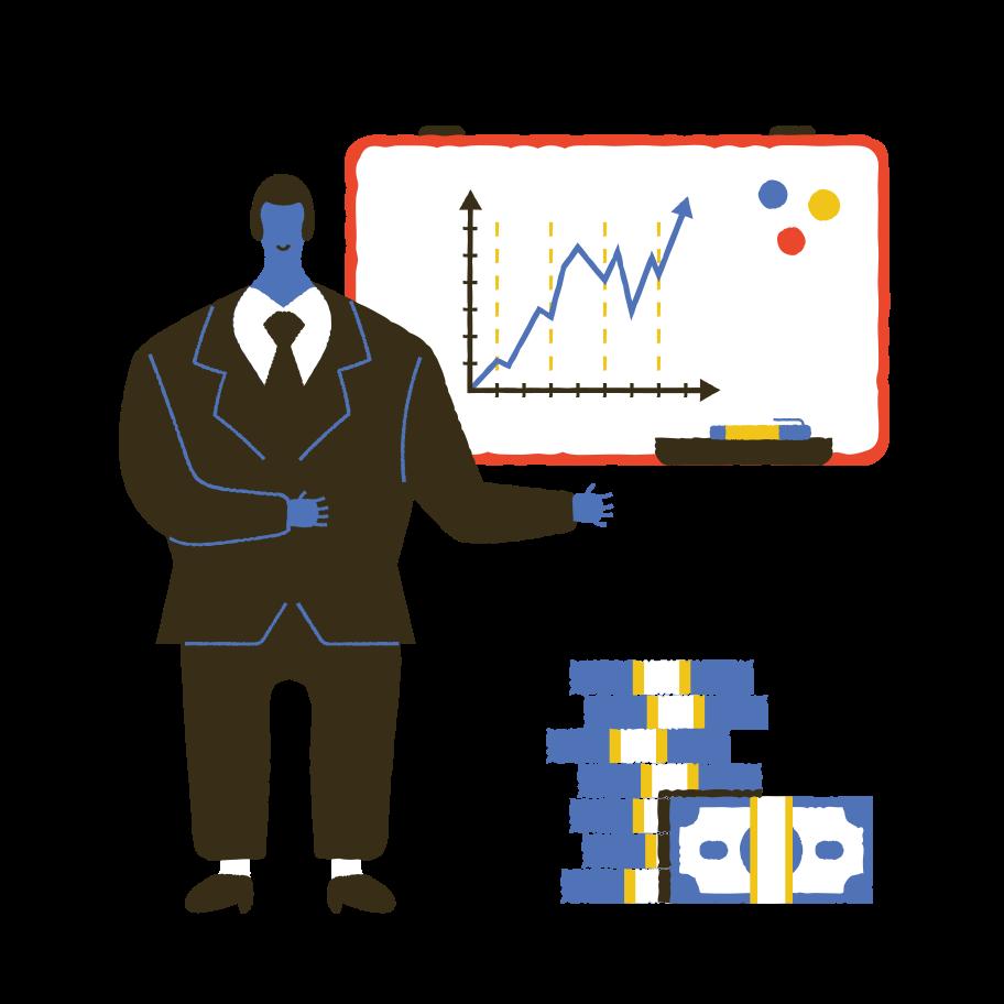 Business presentation Clipart illustration in PNG, SVG