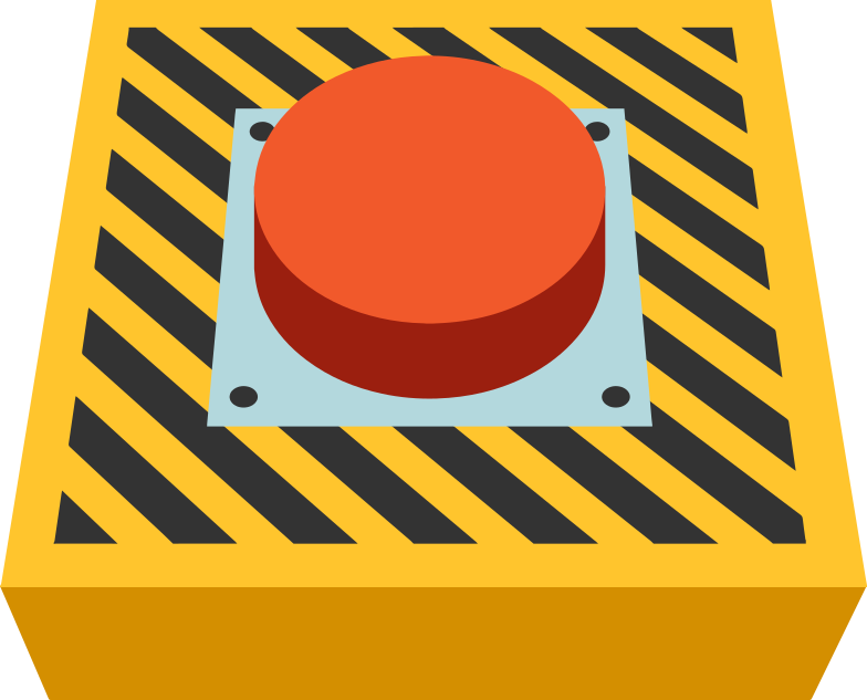 emergency button Clipart illustration in PNG, SVG
