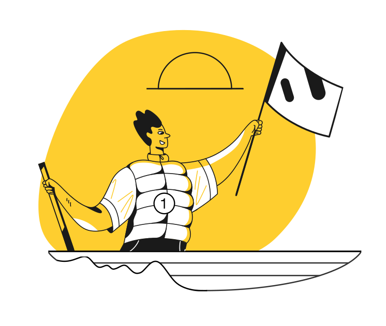 Canoeing Clipart illustration in PNG, SVG