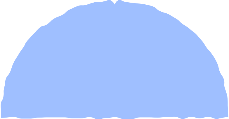 semicircle light blue Clipart illustration in PNG, SVG
