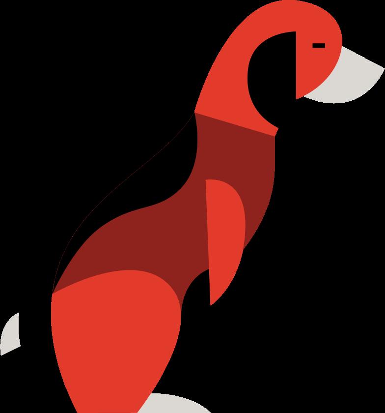 dog sitting Clipart illustration in PNG, SVG