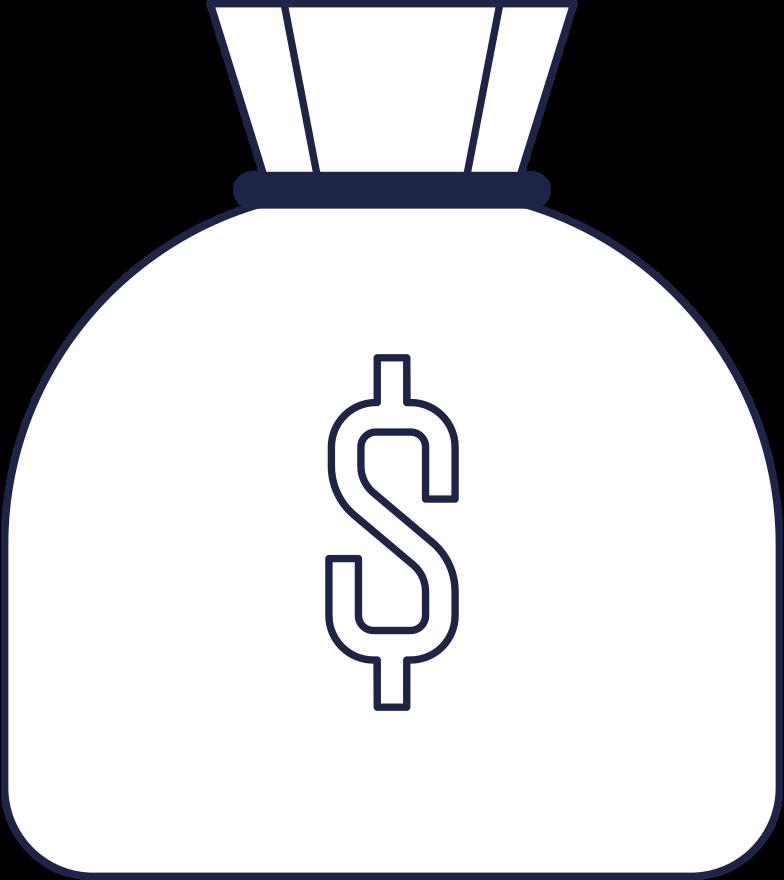 Geldtasche Clipart-Grafik als PNG, SVG