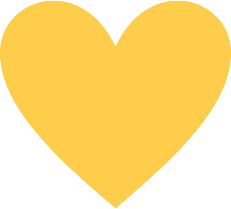 heart-yellow Clipart illustration in PNG, SVG