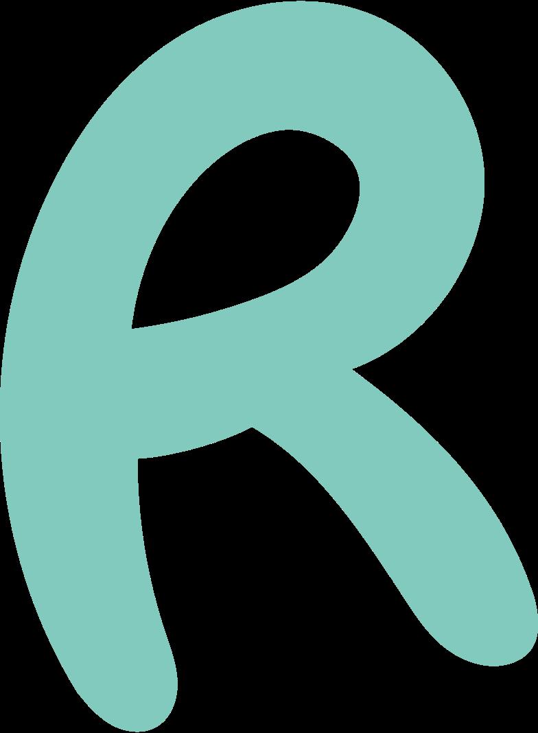 r letter Clipart illustration in PNG, SVG