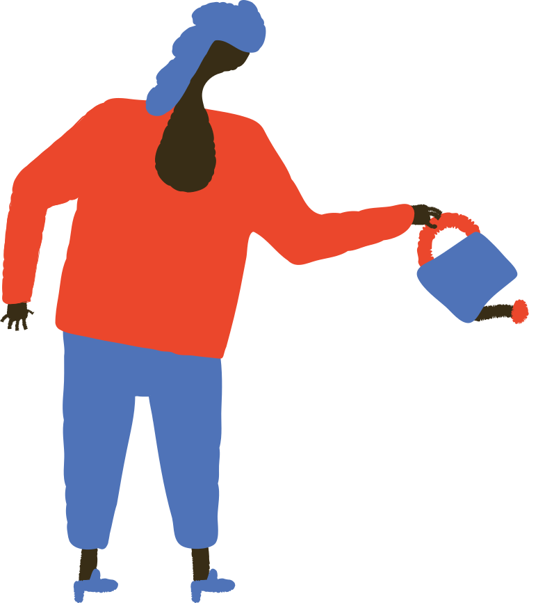 woman with watering can Clipart illustration in PNG, SVG