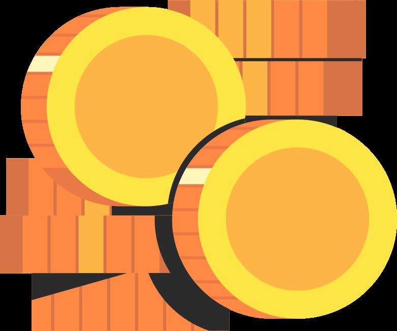 stack coins Clipart illustration in PNG, SVG