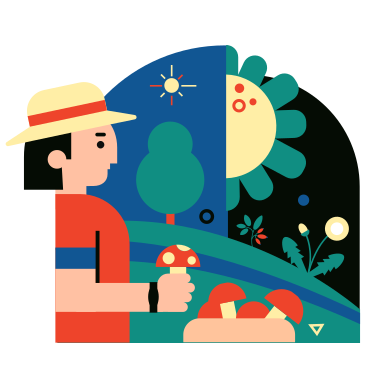 style Mushroomer images in PNG and SVG | Icons8 Illustrations