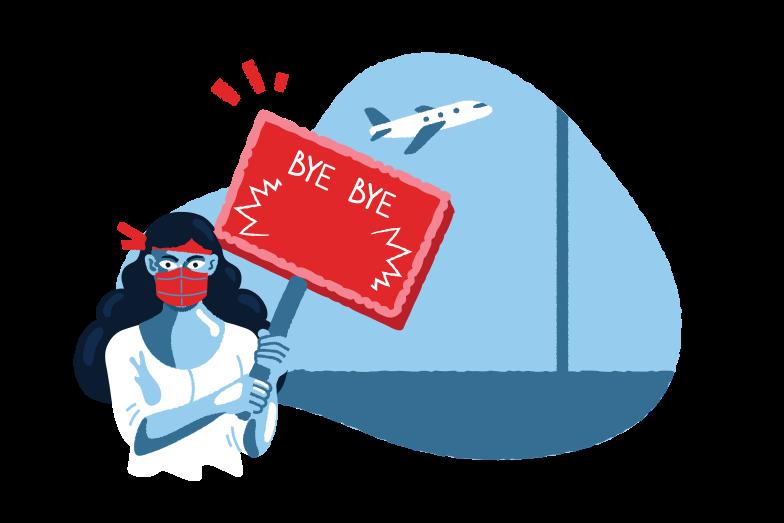 Go away 2020 Clipart illustration in PNG, SVG