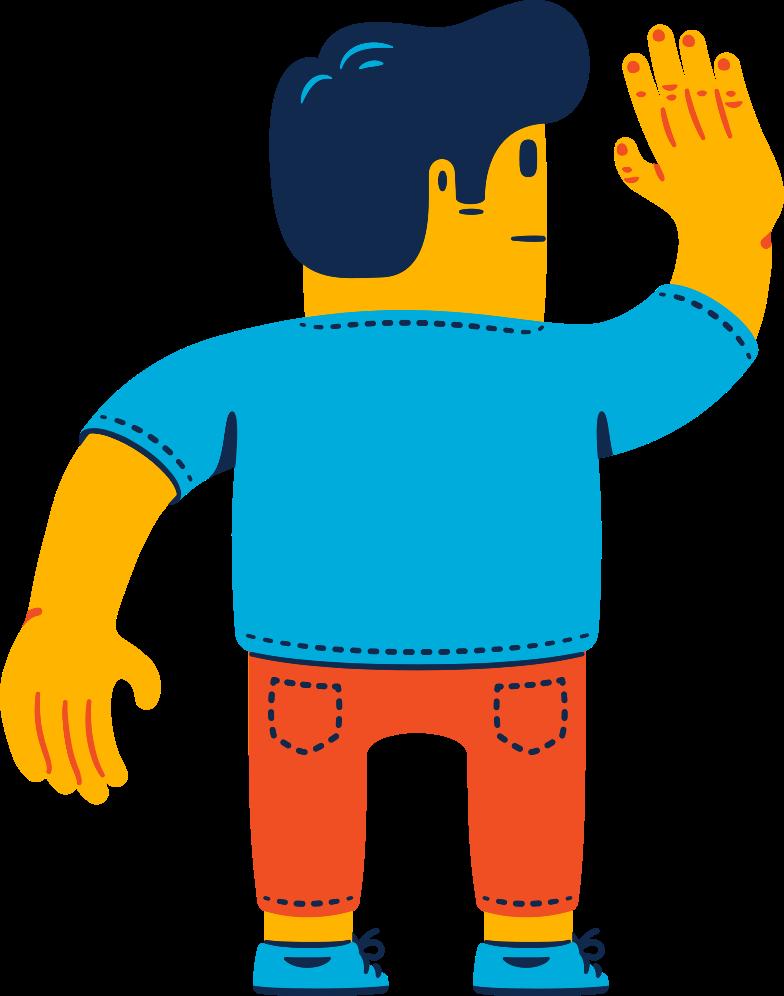 man waving Clipart illustration in PNG, SVG