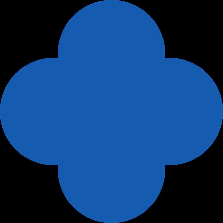 quatrefoil-blue Clipart illustration in PNG, SVG