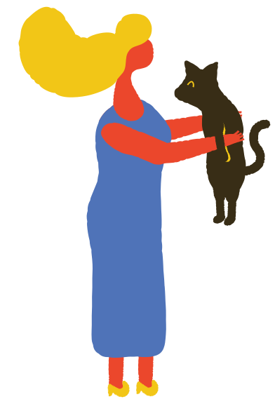 style woman with cat images in PNG and SVG | Icons8 Illustrations
