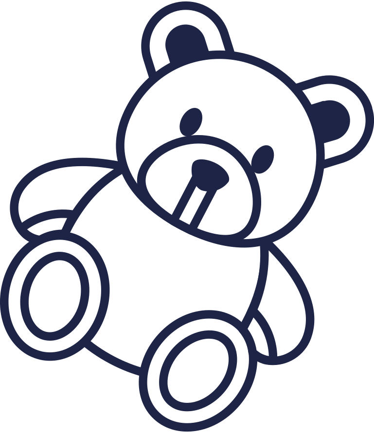 teddy line Clipart illustration in PNG, SVG