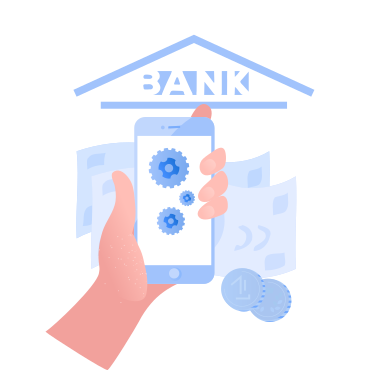 style Internet banking application images in PNG and SVG | Icons8 Illustrations