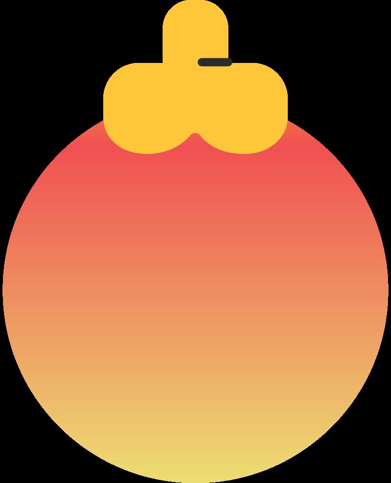 christmas ball orange Clipart illustration in PNG, SVG