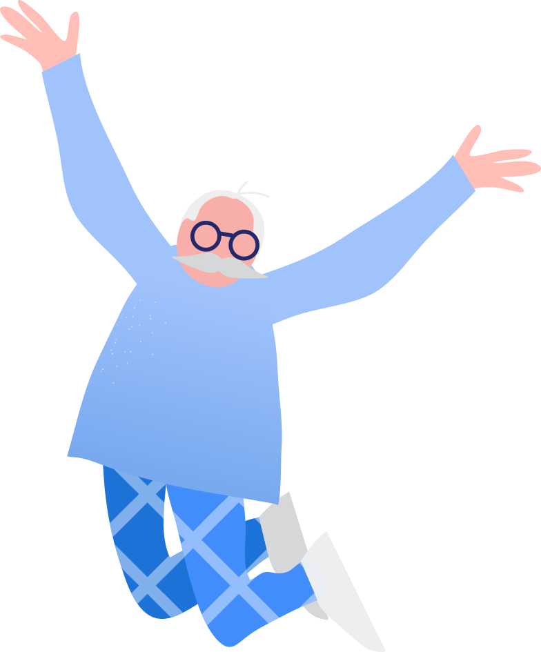 style grandpa jumping Vector images in PNG and SVG | Icons8 Illustrations