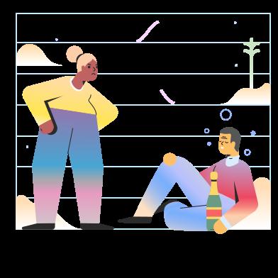 Иллюстрация Пьяный человек в стиле  в PNG и SVG | Icons8 Иллюстрации