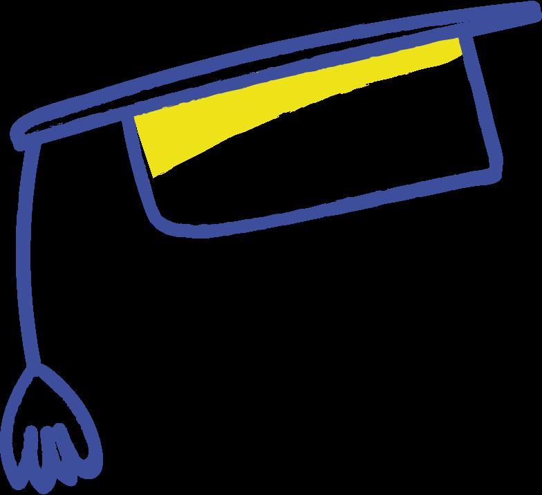 graduate hat Clipart illustration in PNG, SVG