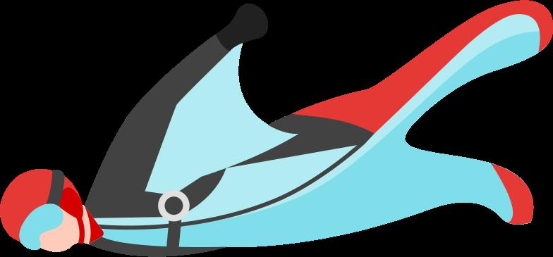 wingsuit Clipart illustration in PNG, SVG
