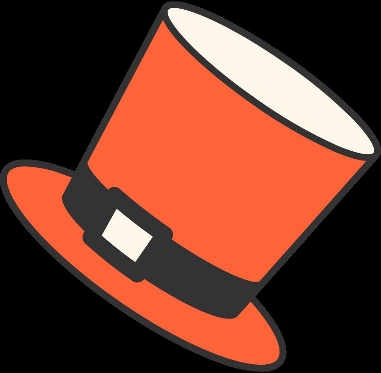 top hat Clipart illustration in PNG, SVG